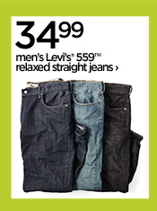 34.99 men's Levi's® 559™ relaxed straight  jeans ›