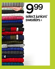 9.99 select juniors' sweaters ›