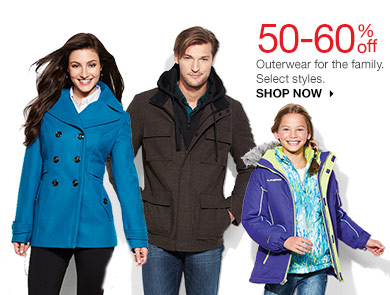 50-60% off Outerwear for the family. Select styles. SHOP NOW