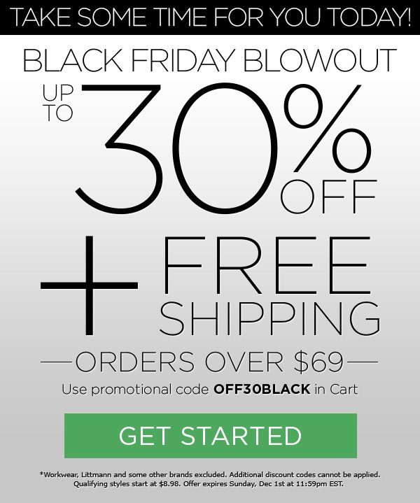 30% OFF + FREE Shipping on orders over $69 - Get Started