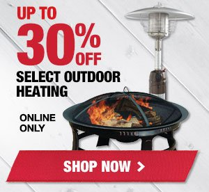 Up to 20% OFF select Outdoor Heating