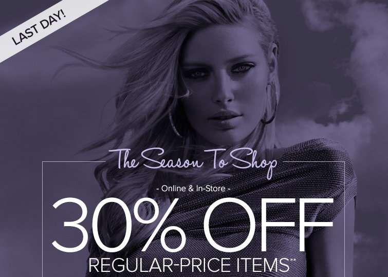 30% off Regular-Priced Items**