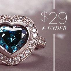 29$ & under Diamonds & Gemstones