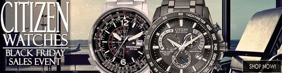 Black Friday Blow-out: Save big on Citizen watches!