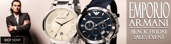 Black Friday Blow-out: Save big on Emporio Armani watches!