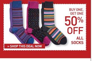 Shop BOGO 50% Off Socks