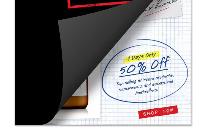 4 Days Only - 50% Off