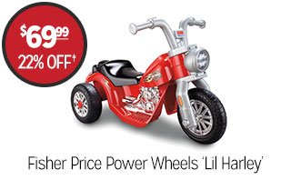 Fisher Price Power Wheels 'Lil Harley' - $69.99 - 22% off‡