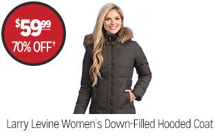 Larry Levine Women's Down-Filled Hooded Coat - $59.99 - 70% off‡