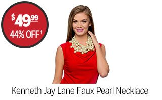 Kenneth Jay Lane Faux Pearl Necklace - $49.99 - 44% off‡