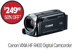 Canon VIXIA HF R400 Digital Camcorder - $249.00 - 50% off‡