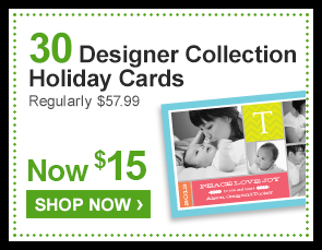 30 Designer Collection Holiday Cards Regularly $57.99 Now $15 - Shop Now ›