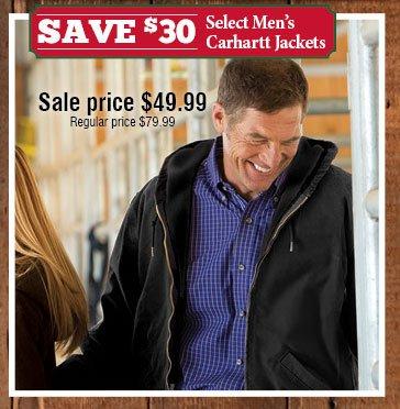Save $30 Select Men's Carhartt Jacket