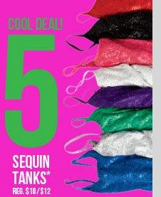 Sequin Tanks - $5! SHOP NOW!