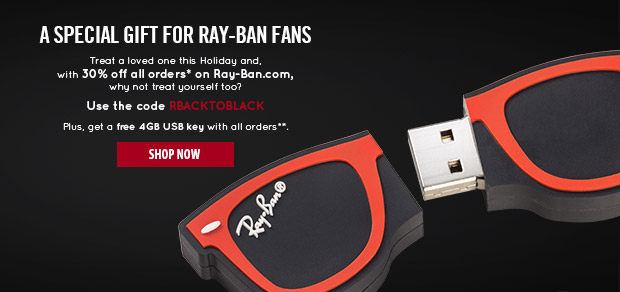 30% off all orders* on Ray-Ban.com today