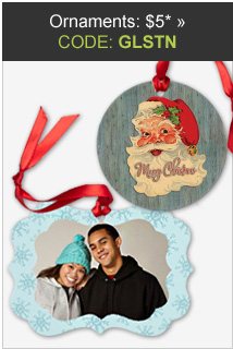 Ornaments: $5 with code GLSTN