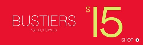 Bustiers from $15