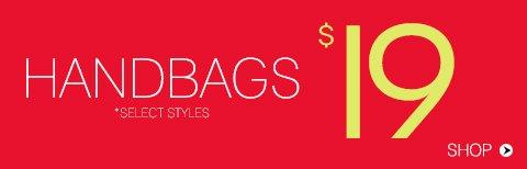 Handbags from $19.90