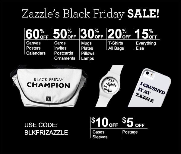 Zazzle's Black Friday Sale