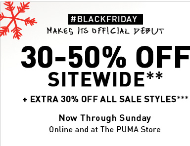 30-50% OFF SITEWIDE**