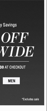 30% Off Sitewide - Mens
