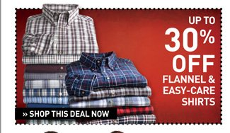 Shop Select Flannels and Easy Care Casual Shirts