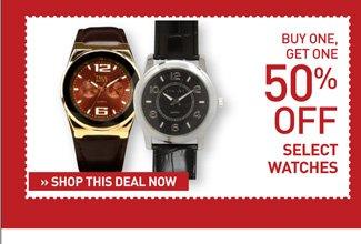Shop BOGO 50% Off Watches