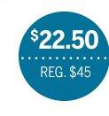 $22.50   Reg. $45