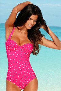 LASCANA Pink Spotty Underwired Swimsuit