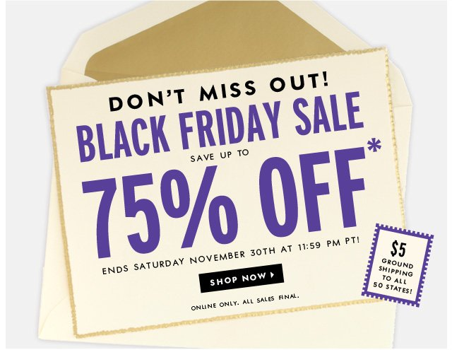 don't miss out. black friday sale. shop now.