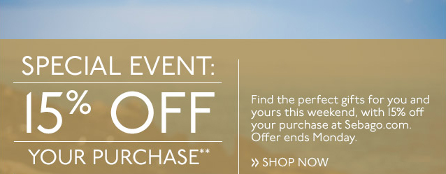 SPECIAL EVENT: 15% OFF YOUR PURCHASE**