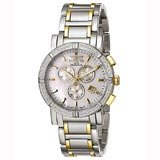 Invicta 4742 Men's Classic Diamond Accent Bezel White MOP Dial Chronograph Watch