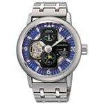 Orient FH04001D Men's Retro Future Airplane Blue Dial Power Reserve Watch