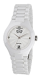 Oniss Women's Swiss Sapphire Ceramic Diamond Watch ON8880-L White