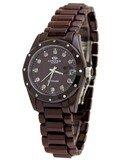 Oniss ON601-L Brown Women's Brown Ceramic Diamond Watch