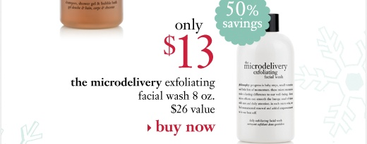 the microdelivery exfoliating facial wash 8 oz. only $13 ($26 value, 50% savings)