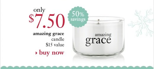 amazing grace candle only $7 ($15 value, 50% savings)
