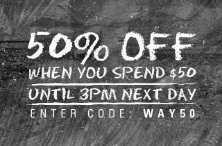 Shop now! 50% off!
