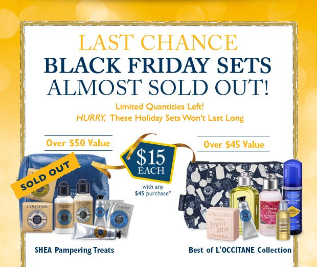 Last Chance Black Friday Sets Almost Sold Out! Limited Quantities Left!
