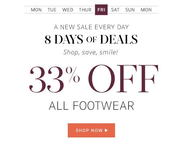 33% Off All Footwear: Shop now