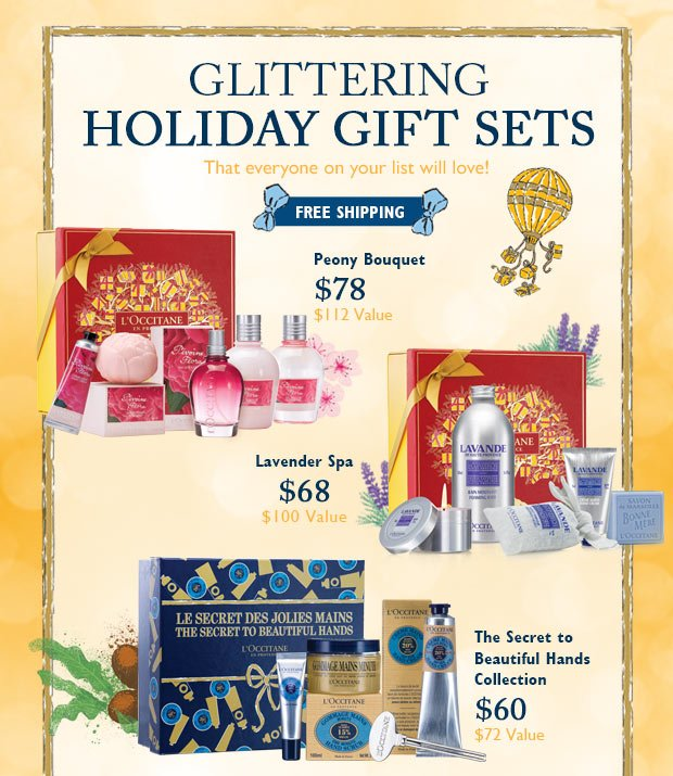 Glittering Holiday Gift Sets!