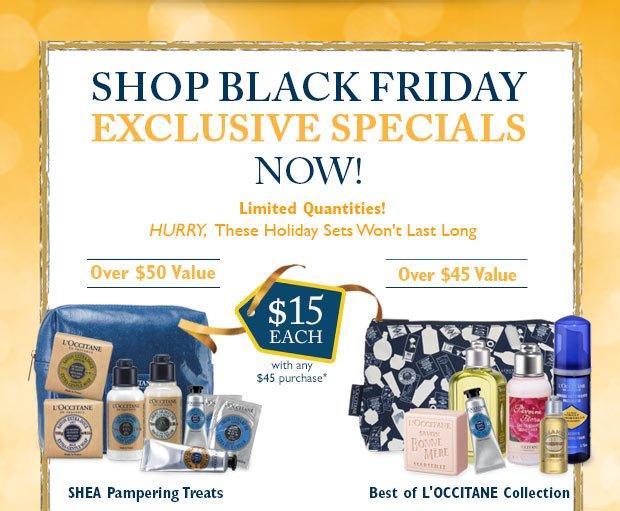 Shop Black Friday Exclusive Specials Now!