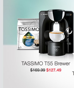 TASSIMO T55 Brewer, $127.49.