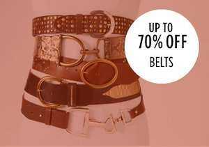 Up to 70% Off: Belts