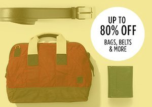 Up to 80% Off: Bags, Belts & More