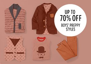Up to 70% Off: Boys' Preppy Styles