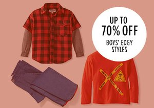 Up to 70% Off: Boys' Edgy Styles