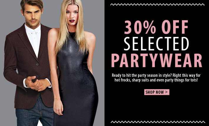 30% off selected partywear