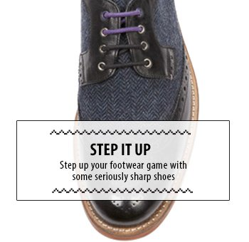 Step up your footwear game - seriously sharp shoes
