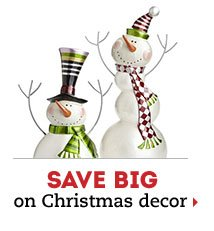 Save big on Christmas decor